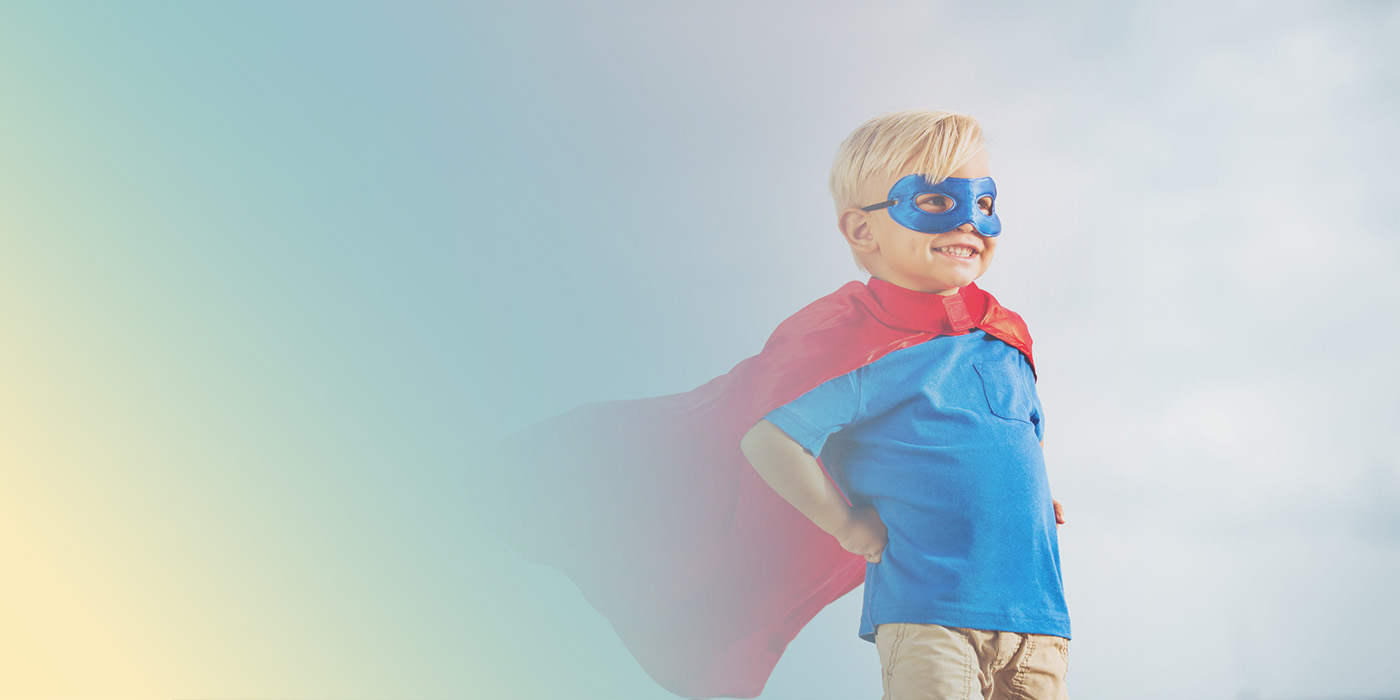 Child superhero background